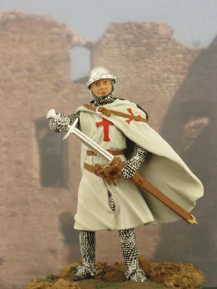 Knight templar guard artillery medieval knights miniatures military figurines historical tin figures cavalry knight knight templar