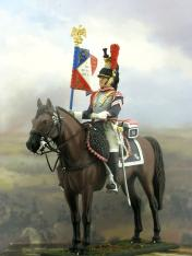 Cuirasier standartbearer french painted toy soldiers german figures kits sale 1810 1812 10 bearer reg standard year 10th 1805 alfiere anno cavalr chef cuirassier cuirassir de flag full heav logi napoleon parade porte regiment uniform