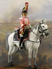 Cuirasier trumpeter toy soldier military miniature collectors diorama collection 1812 1809 1815 reg reggimento soldiers figures collectible toy soldiers 54 mm kits trombettiere trompette trumpeter year